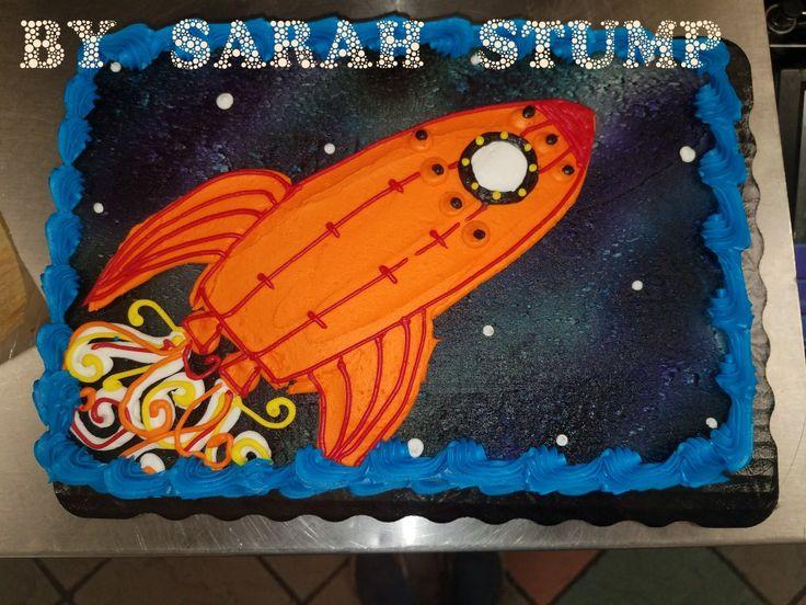 Weltraumraketenschiff-Blechkuchen – Buttercreme von Sarah Stump   – My cakes