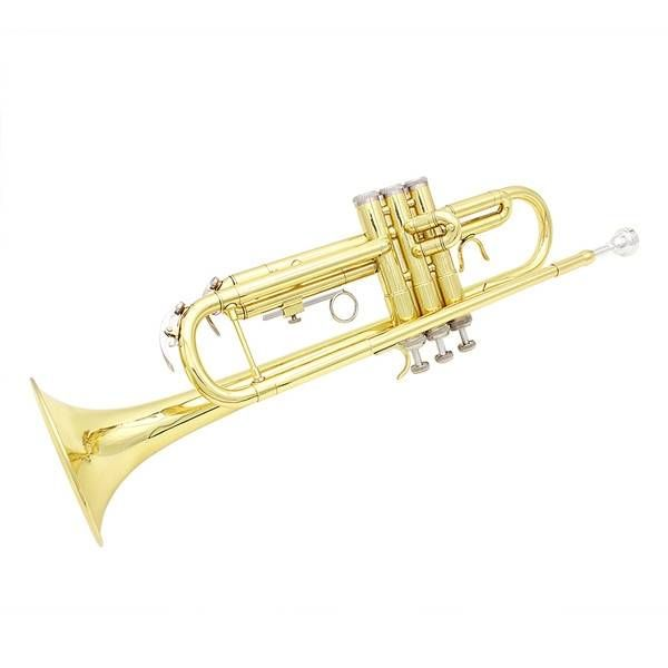 LADE Gold Trumpet Bb b Flat Brass Trumpet With Case & Accessories