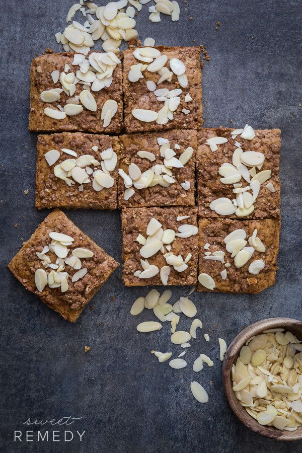 Almond Coffee Cake: A great tasting dessert filled with whole grains and healthy nuts!