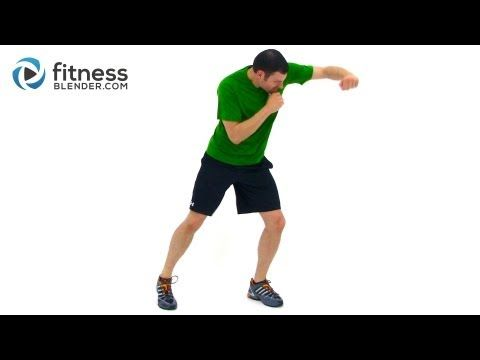 ▶ Cardio Kickboxing Workout - Full Length Kickboxing Workout Video by Fitness Blender - YouTube 8 min. warmup, 22 min. workout