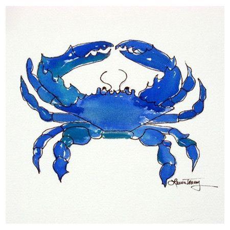 Blue Crab Wall Art: beach house