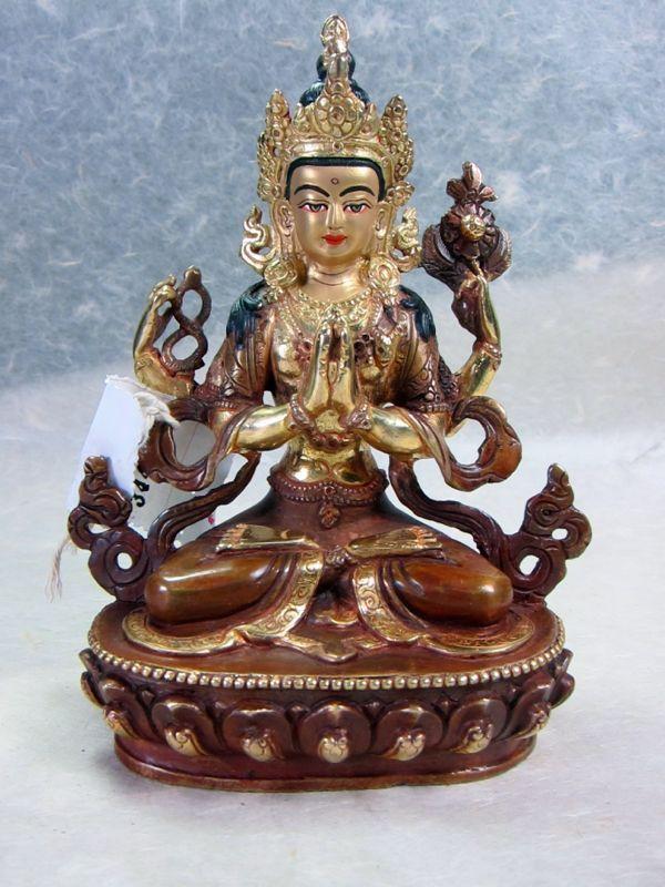 6 inch Chenrezig Statue