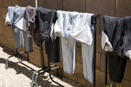 And wash dark clothes inside out to keep them from fading, too. | 23 Surprising Laundry Tips You Didn't Know You Needed