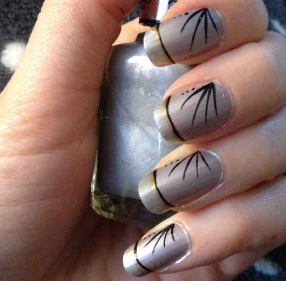 Grey Nail Art Design