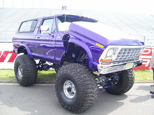 Purple Bronco Lifted Classic Trucks Pinterest