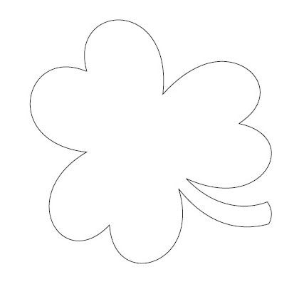 Free Printable Of Large Shamrock To Outline With Glitter