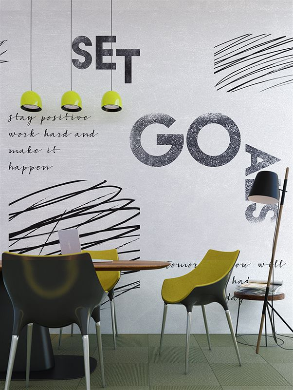 Motivational Wall   Designer Murals   Accent Wallpaper   Choose your favorite design from our Accent Wallpaper Collections www.accentwall.eu #accentwall #officeinteriordesign #mural #meetingroom