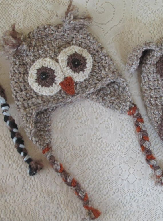 Cutest owl hat ever!  Note to self: check to see if she does adult sizes!