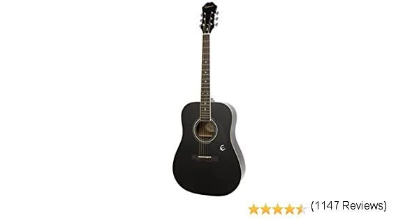 Epiphone Dr 100 Acoustic Guitar Ebony Amazon Ca Musical Instruments Stage Studio In 2020 Epiphone Acoustic Guitar Guitar