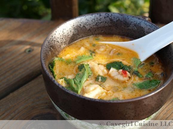 Spicy Lobster Thai Soup (Lobster Tom Kha)   Cavegirlcuisine.com
