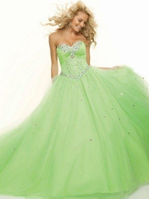 Ball Gown Sweetheart Beading Sleeveless Floor-length Tulle Prom Dress