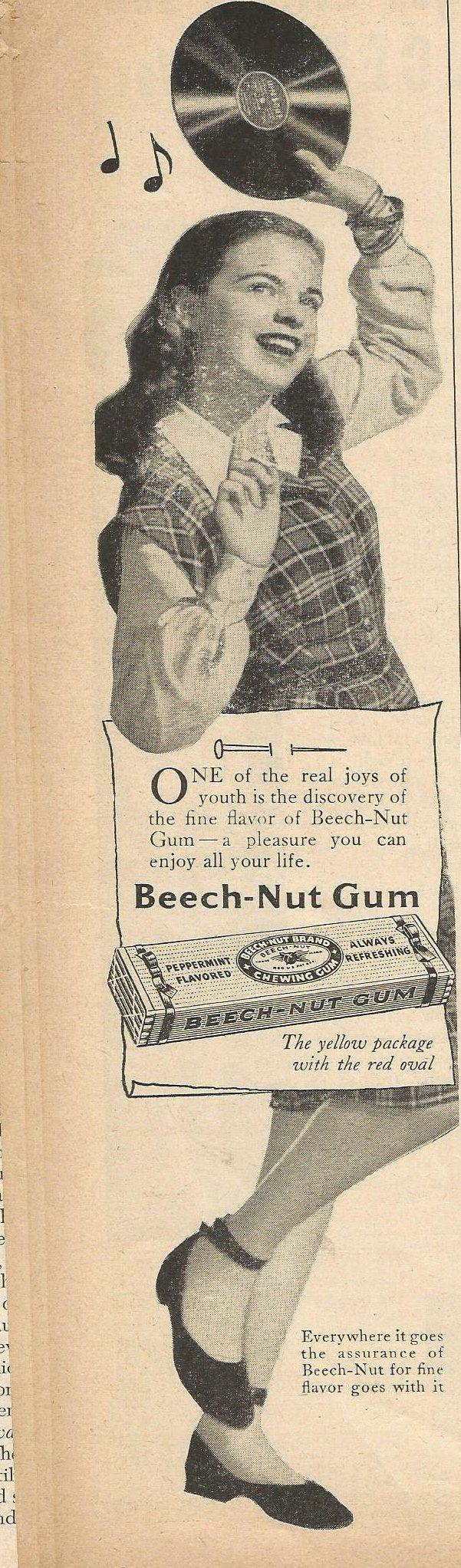 Beechnut Gum, 1950's