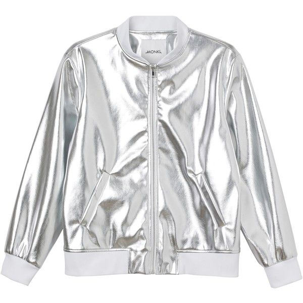 Julia bomber ($69) ❤ liked on Polyvore featuring outerwear, jackets, coats, tops, white bomber jacket, monki, retro bomber jacket, white jacket y star jacket