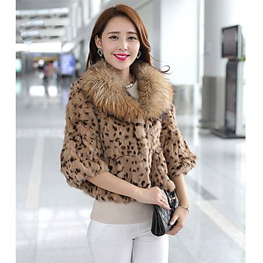 Baibian Women All Match Leopard Fur Thermal Overcoat – AUD $ 31.71