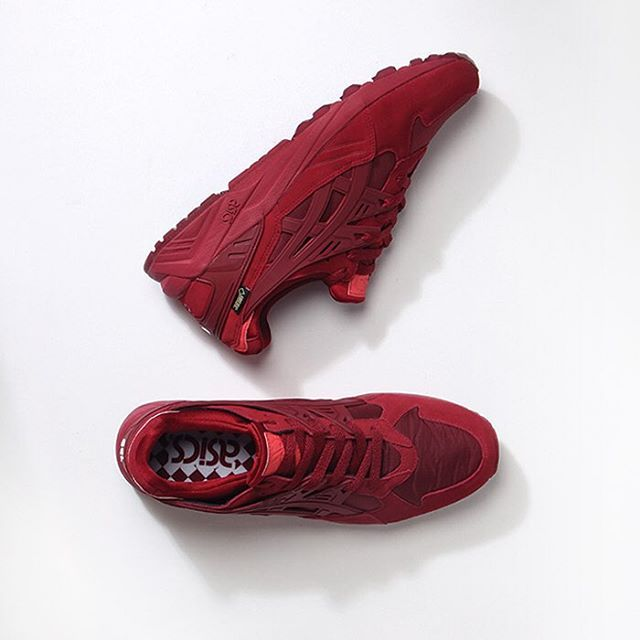 Good things take time ~ like Asics Gel-Kayano Trainers ~ well worth the wait in full burgundy or full navy ~ in Welly & online #asics #goodasgoldshop #gelkayano #gelkayanotrainer #gagsneakers