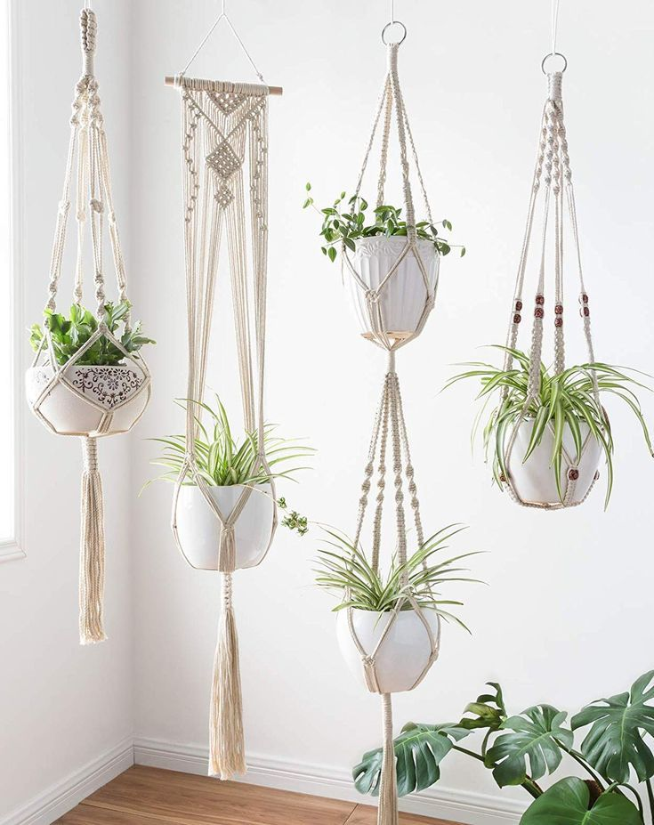 Macrame Plant Hanger For Succulents In 2020 Macrame Plant Hangers Flower Pot Holder Hanging Plant Holder
