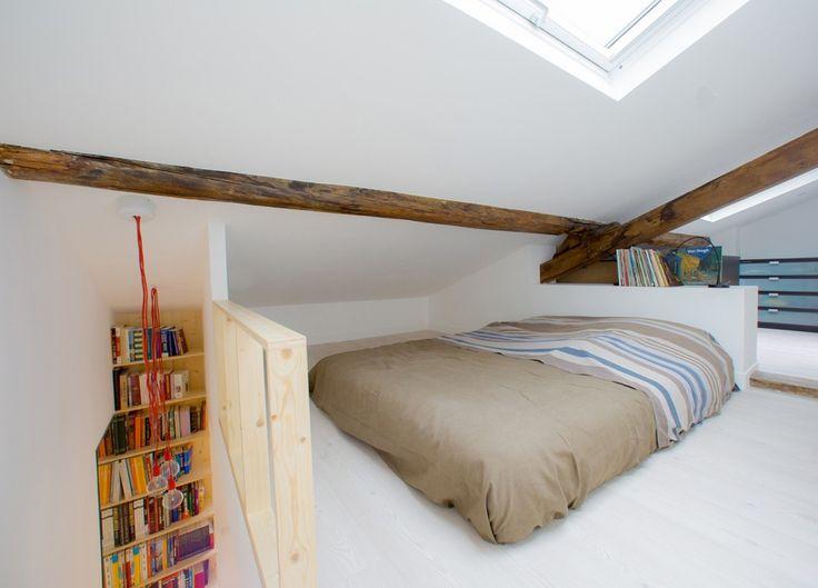 【メゾネットにリノベーション】ロフトのベッドルーム付きワンルーム   住宅デザイン
