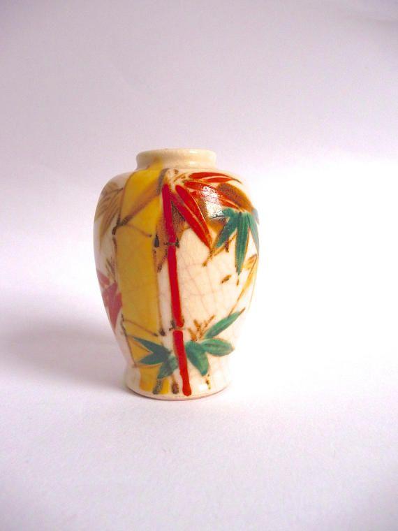 Vintage Kenzan Japan Handpainted Vase