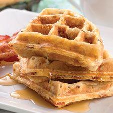 Maple-bacon yeast waffles..........  OH...SOOOO GOOD..!!..