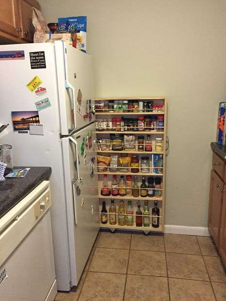17 best ideas about slide out pantry on pinterest build for Hidden kitchen storage ideas