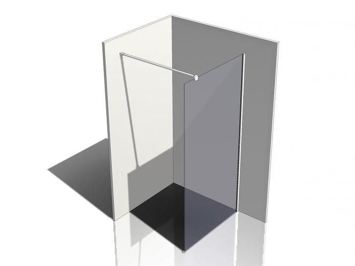 The Kado Lux Fixed Shower Screen Panel with Wall Support 1000 comes in multiple size options for flexible installation, making Kado Lux Showers suitable for an endless combination of bathroom layouts.