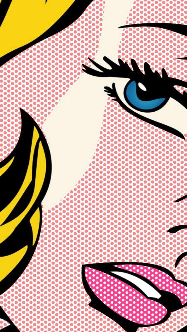 Roy Lichtenstein Girl with Hair Ribbon Wallpaper for