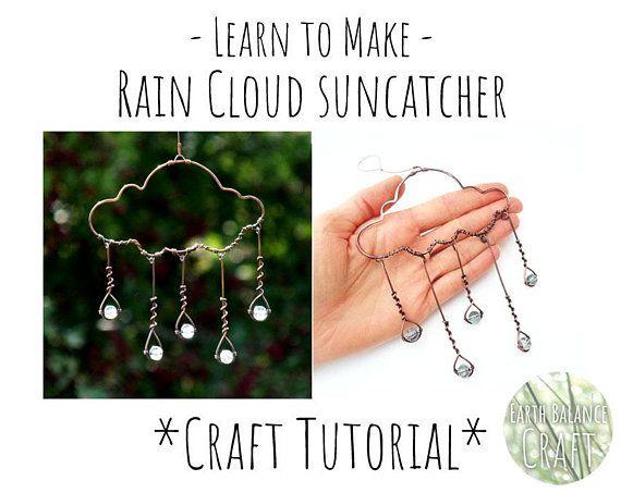 7eda59ee01331 Wire Art Tutorial, Rain Cloud Suncatcher, Beginner Art Project ...