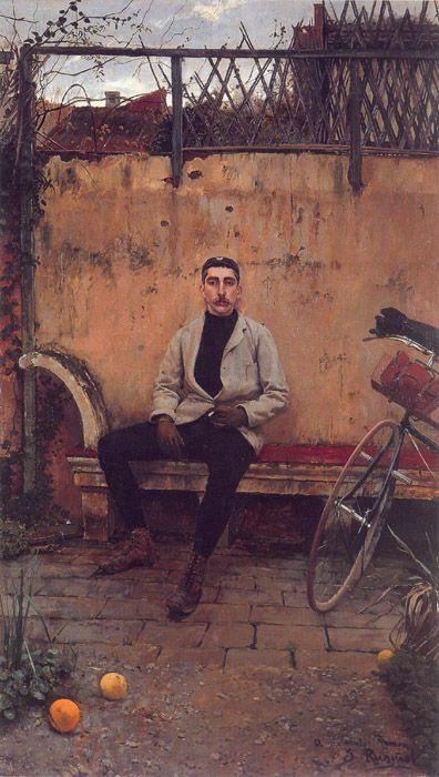 Retrato de Ramón Casas. Velocipedista. 1889. Rusiñol  Rusiñol Retrata a Casas