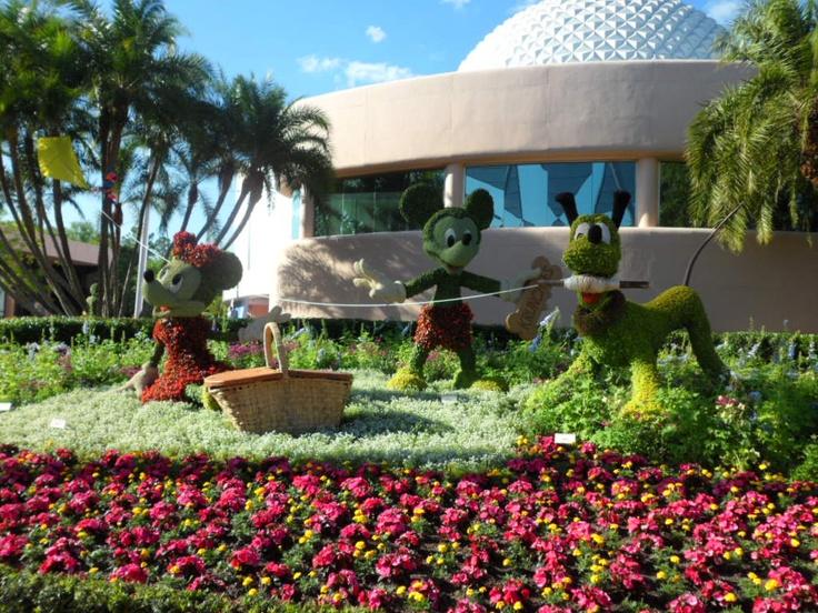 Epcot International Flower & Garden festival  http://disneyworld.disney.go.com/parks/epcot/special-events/epcot-international-flower-and-garden-festival/