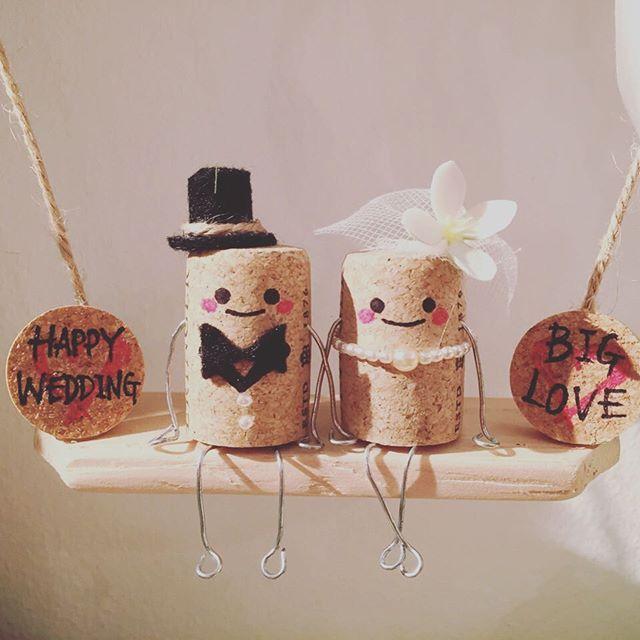 本日のコルクアート♡ ウェルカムコルク(*^^*) このブランコの全貌はつぎの写真で♡  #株式会社happybridalproject  #コルクアート #新郎新婦 #ブランコ #DIY #リクエスト #結婚準備をワクワクする  #結婚式 #オーダーメイドウェディング #手作り結婚式 #ウェディングアイテム