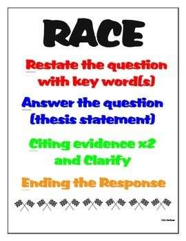 race essay format