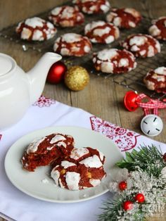 Come fare i red velvet crinkle cookies