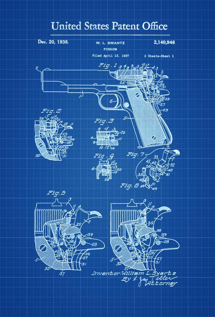 Colt Firing Pin Safety Patent - Patent Print, Wall Decor, Gun Art, Firearm Art, Colt Patent, Firearm Blueprint, Colt Firearm by publiclens on Etsy