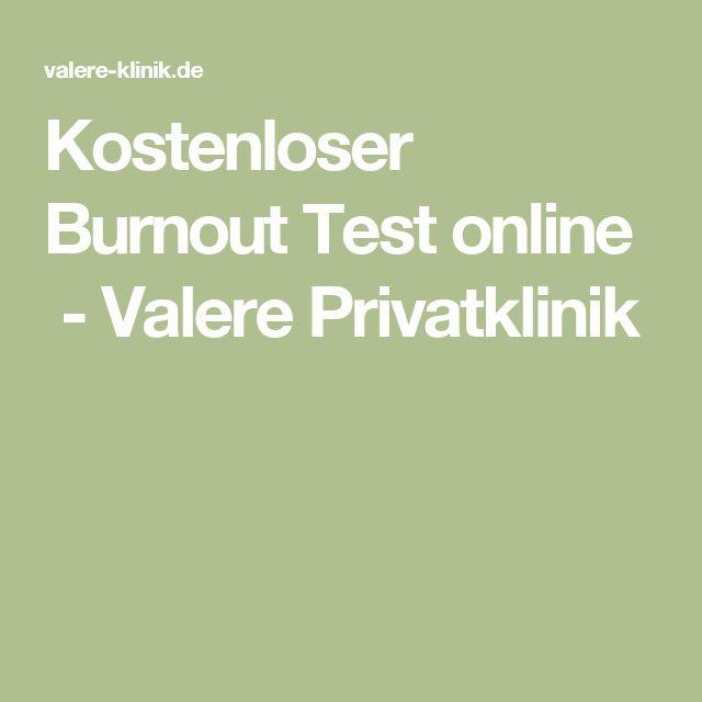 Kostenloser Burnout Test online - Valere Privatklinik