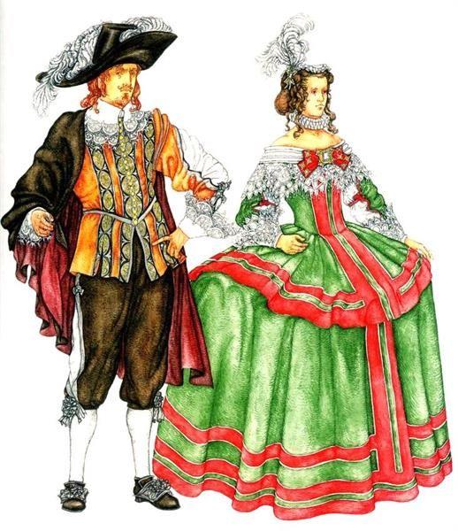 Древний испанский костюм
