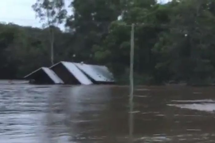 House floating away in Luscombe