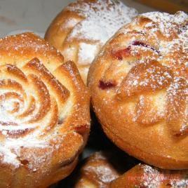 Meggyes és nutellás muffin