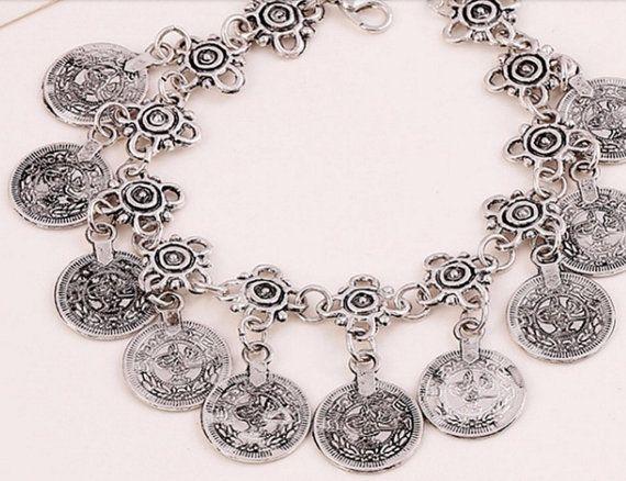 Pulsera monedas joyas pulsera pulsera pulsera por YouLoveYouShop