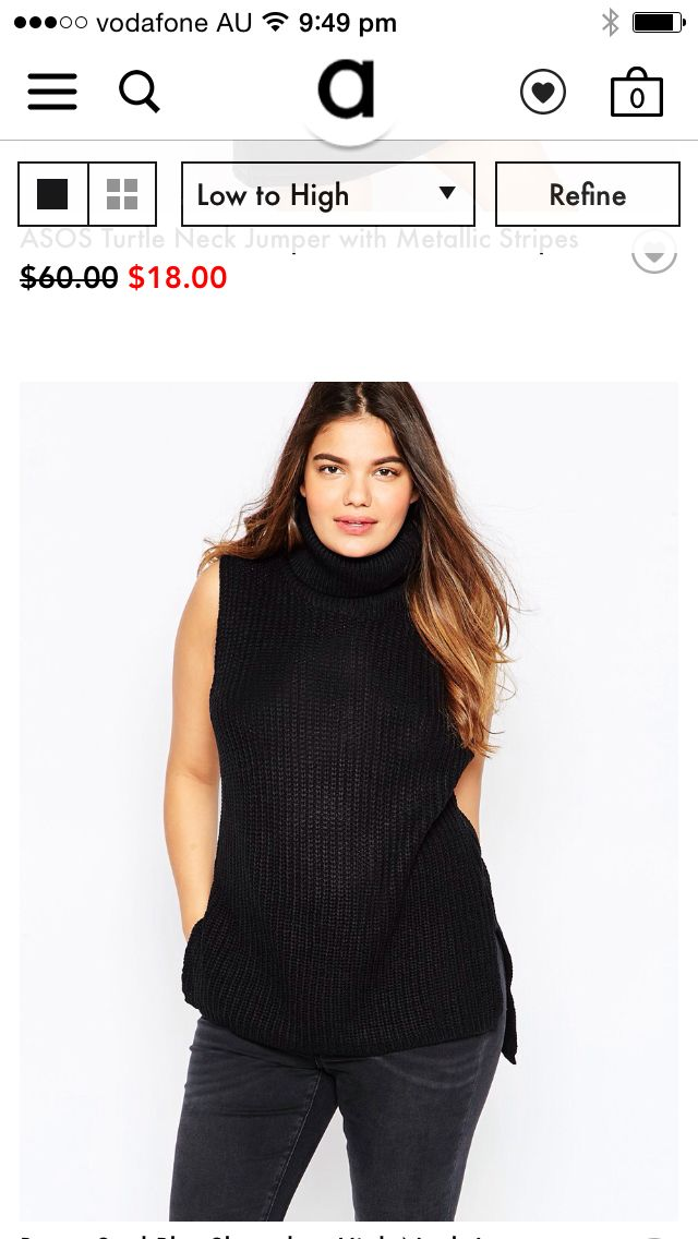 Sleeveless black knit top