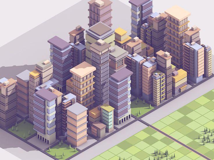 City Chunk by Timothy J. Reynolds #Design Popular #Dribbble #shots