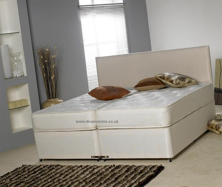 """Windsor 6ft Super King Size Zip and Link Bed with 10"""" Deep Medium Firm Mattresses - £239.00 Price includes VAT and FREE DELIVERY"""
