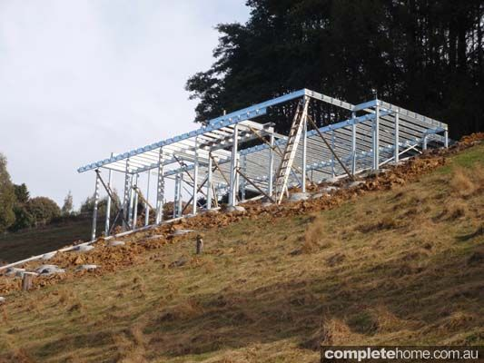 1000 images about slope houses on pinterest a house for Steel piers for house