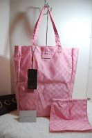 Gucci Mama Tote Pink Nylon  Rp.3.300.000 12L x 17H x 5D pink