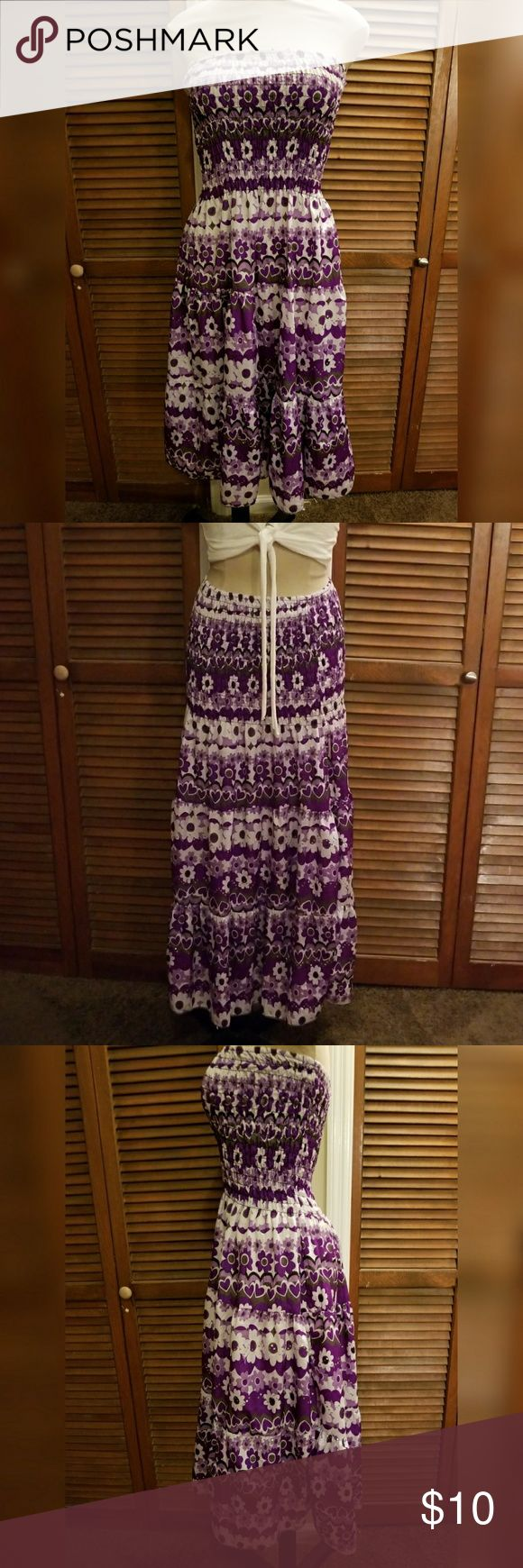 """🌼 Floral Print Tube Dress/Skirt Size XL      """"Jessica Taylor""""  purple and lavender.  can be worn as a tube dress or skirt Jessica Taylor Dresses"""