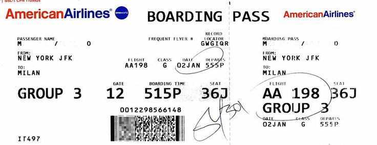 American Airlines boarding pass Airline Tickets (DIY - plane ticket template
