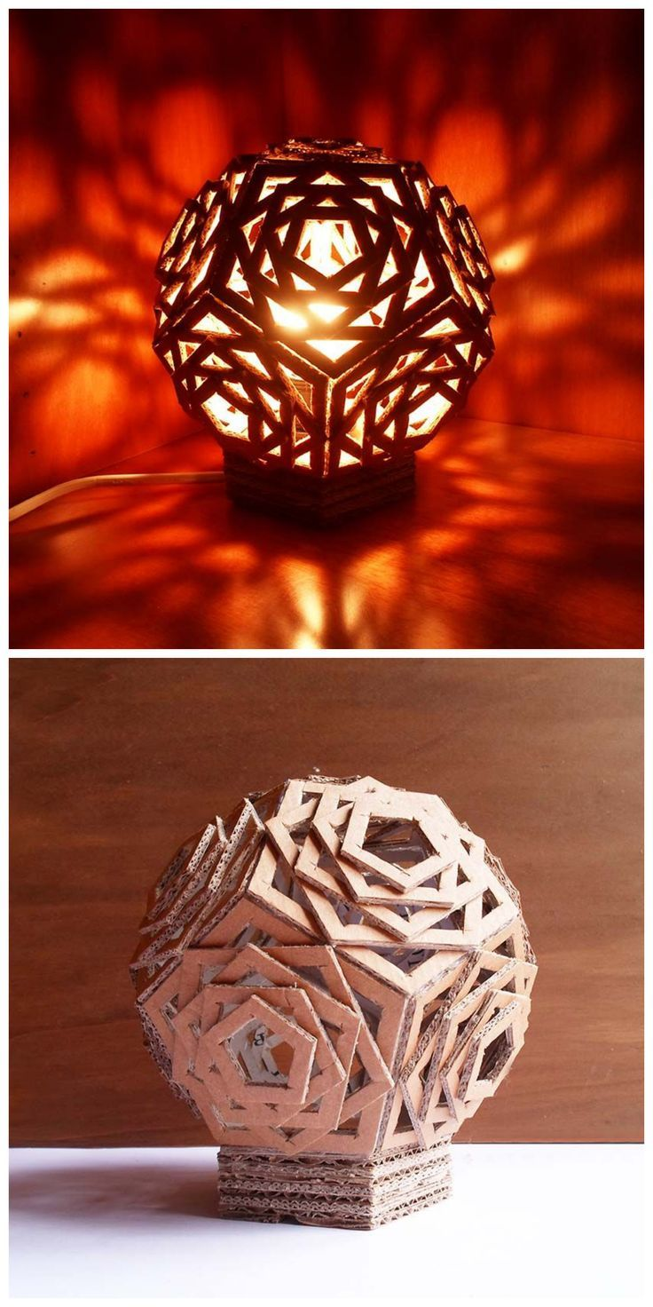 109 best lamparas images on pinterest for Dodecahedron light fixture