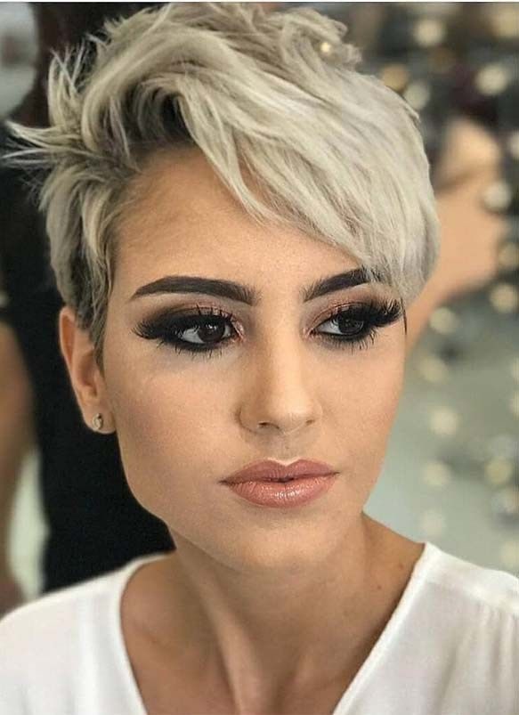 Updated Short Pixie Blonde Haircuts In Year 2019 Stylesmod Blonde Haircuts Edgy Pixie Haircuts Edgy Pixie Hairstyles