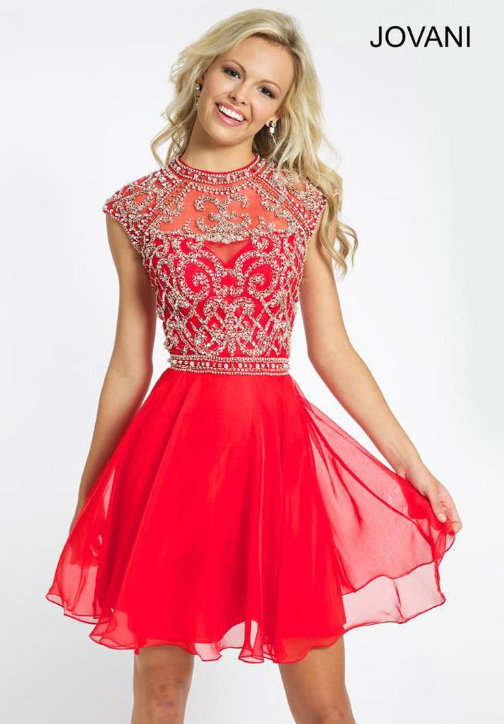 Sweet Sixteen Dresses 2014 Free Shipping Discount Vestidos de Festa Chiffon Red Short Dresses Homecoming Party Online $129.99