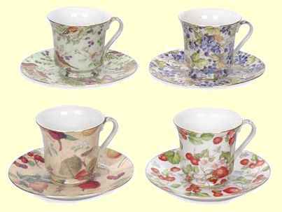 Bulk Inexpensive Discount Tea Cups with a cheap near wholesale price but an elegant look. Quantity Tea Cups and Saucers for Tea Party and Wedding Events