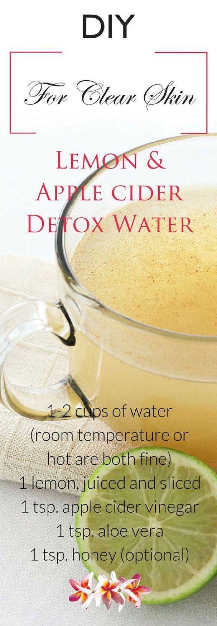 Lemon and Apple Cider Vinegar Detox Water for Clear Skin…